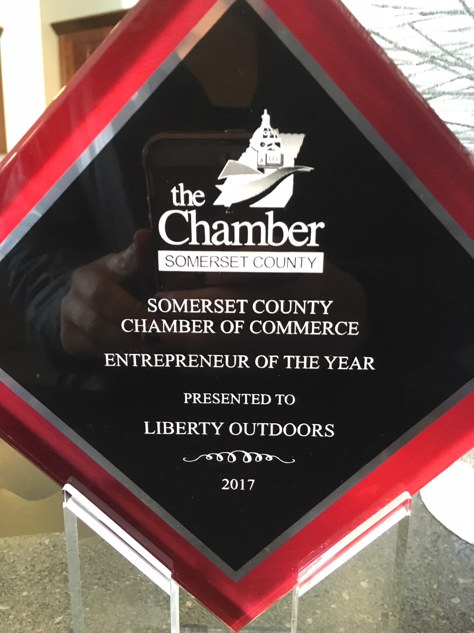 Entrepreneur of the Year Award Plaque